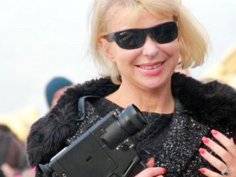 Agnieszka with Super8 in London